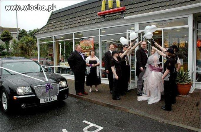 ślub w mc.donaldzie