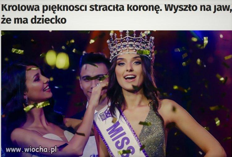 Miss Ukrainy straciła koronę bo ma dziecko
