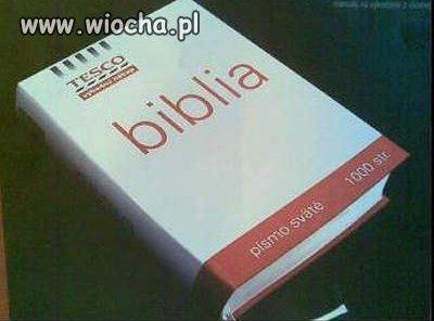 Biblia z Tesco