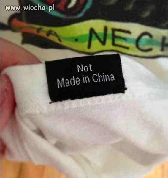 Nie CHiny  to gdzie ?