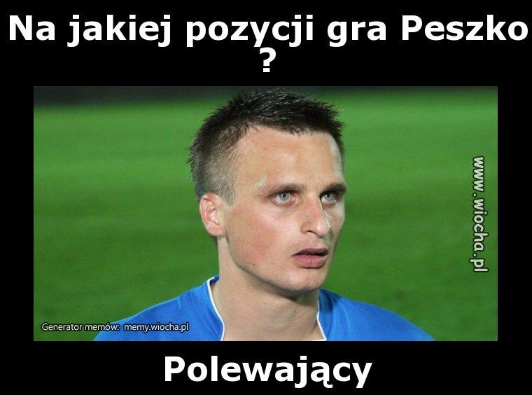 Na jakiej pozycji gra Peszko?