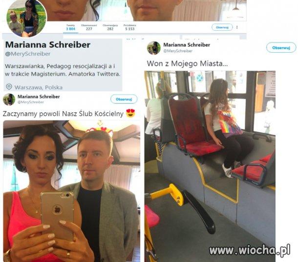 Żona posła Schreibera robi ukradkiem zdjęcia młodej