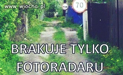 Ograniczenie prędkości na Podlasiu