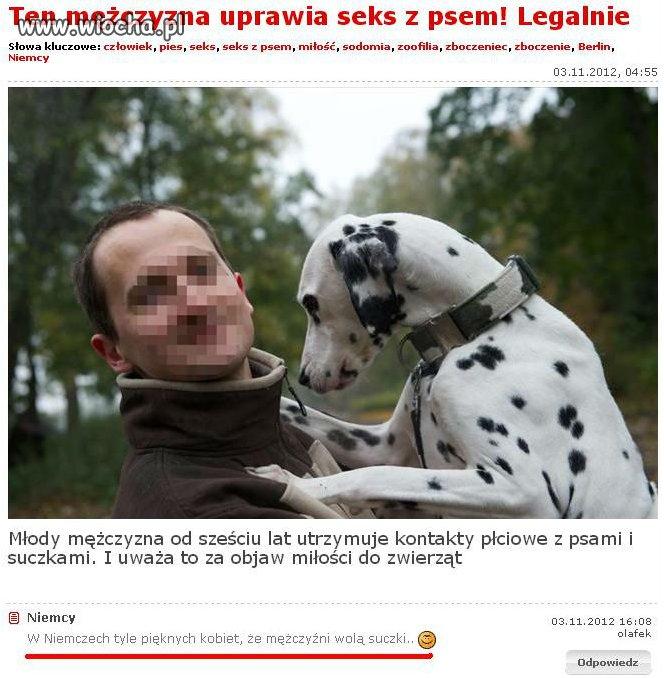 Młody mężczyzna uprawia seks ze zwierzętami - wiocha.pl