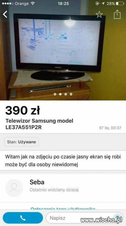 Telewizor dla niewidomej