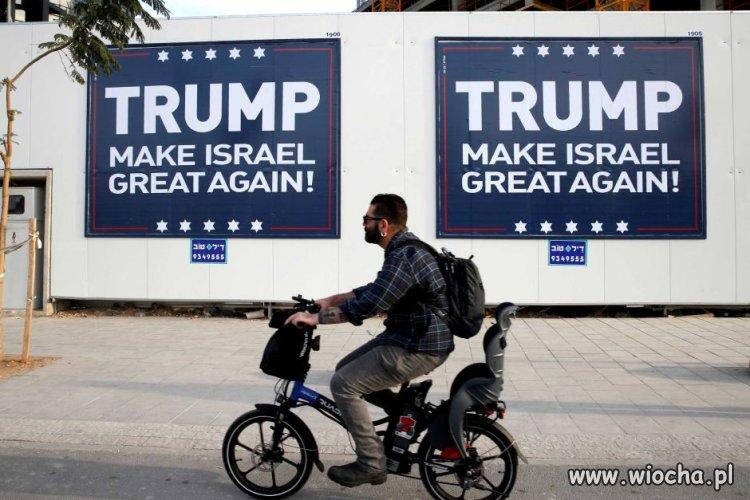 Tymczasem w Izraelu, pełno takich plakatów