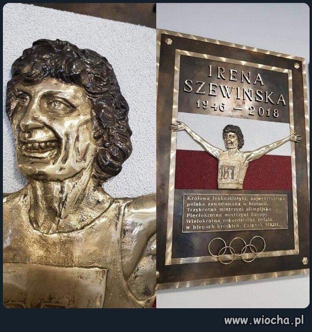 Pomnik Ireny Szewińskiej, Łomianki.