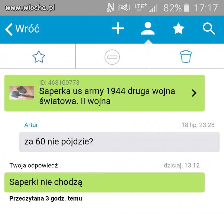 Saperka za 130 zł