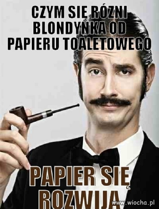 Czym się różni blondynka od papieru toaletowego?