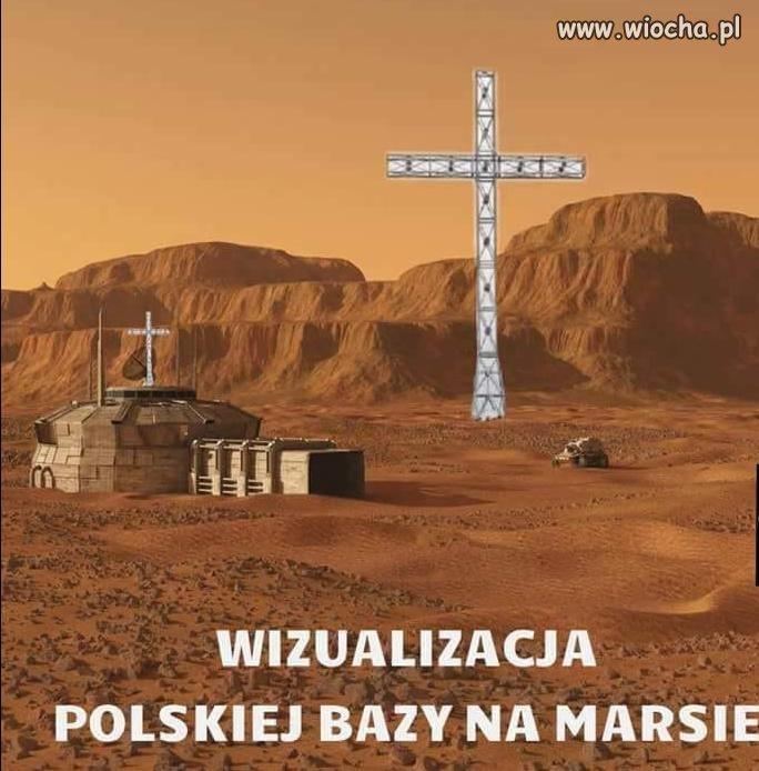 Wizualizacja Polskiej Bazy Na Marsie...