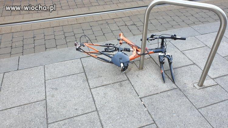 Kiedy zostawiasz rower zabezpieczony od kradzieży
