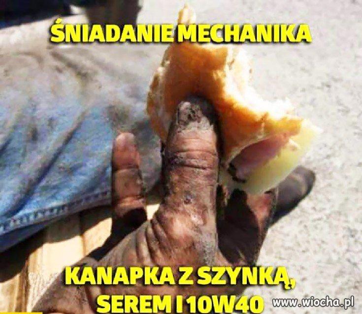 Śniadanie mechanika