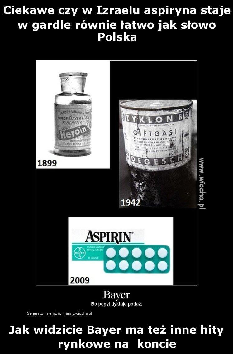 Ciekawe czy w Izraelu aspiryna staje w gardle