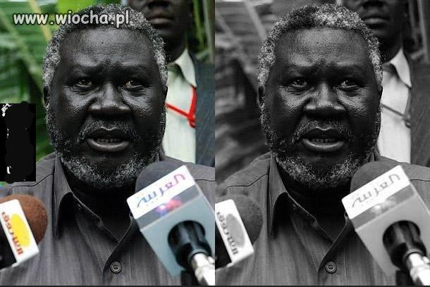 Dla porównania czarno-biało
