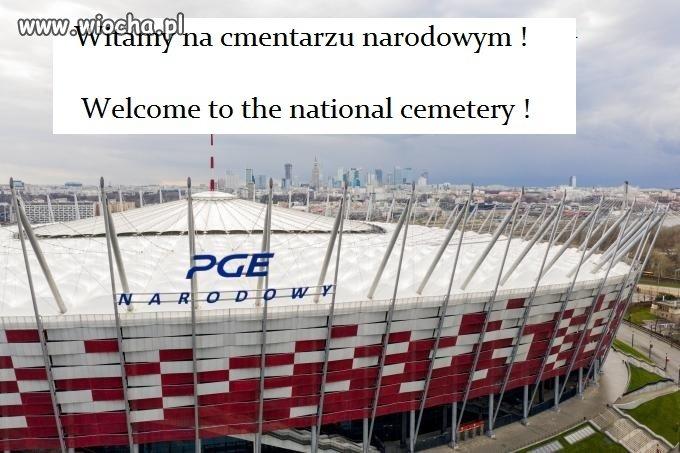 Witamy na stadio..khm , sorki khm , cmentarzu