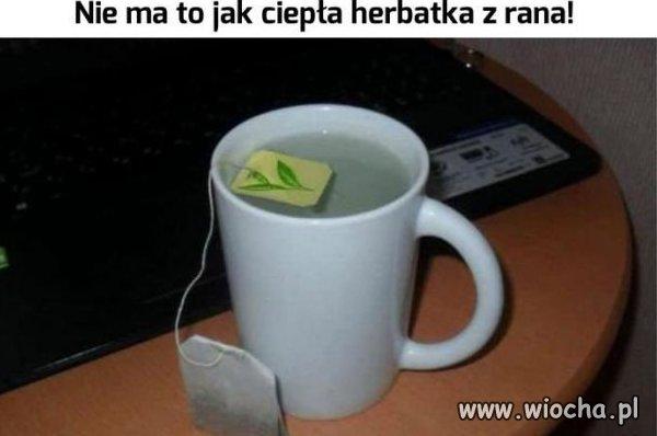 Tak wygląda poranna herbata