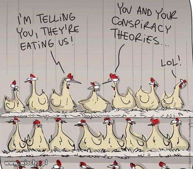 Teorie spiskowe.
