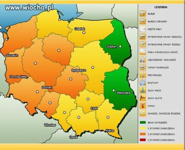 Pogodowa Mapa Polski Wiocha Pl Absurd 1214322