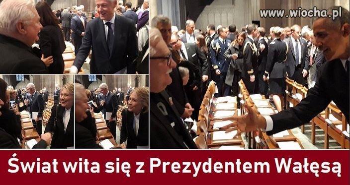 Tak witają się z Polskim Prezydentem