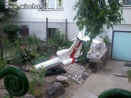 Ogrodowy wrak Tupolew'a