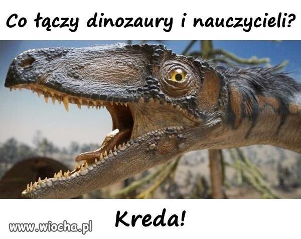 Dinozaur i nauczycielka