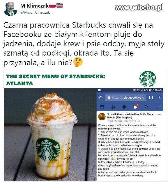 Pracownica Starbucks
