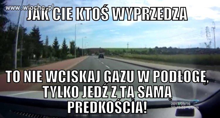 Prośba do kierowców z syndromem poldka