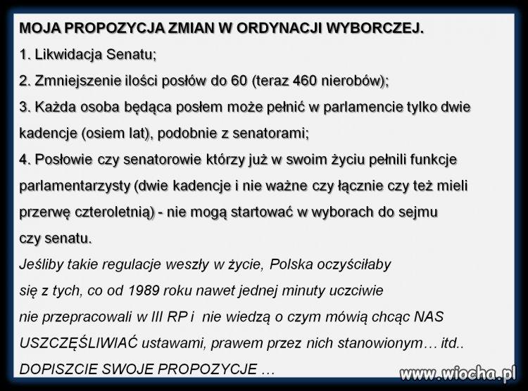 PiS chce zmiany w Ordynacji Wyborczej?