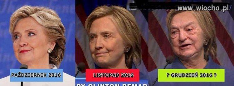 Z Hillary Clinton coraz gorzej