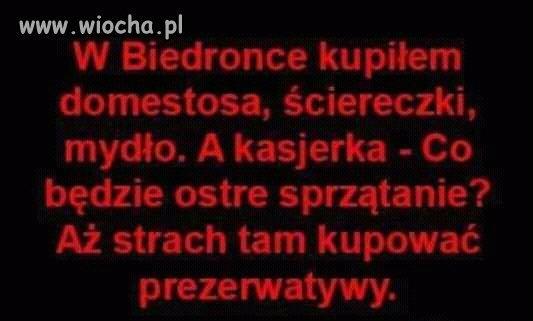 w Biedronce...