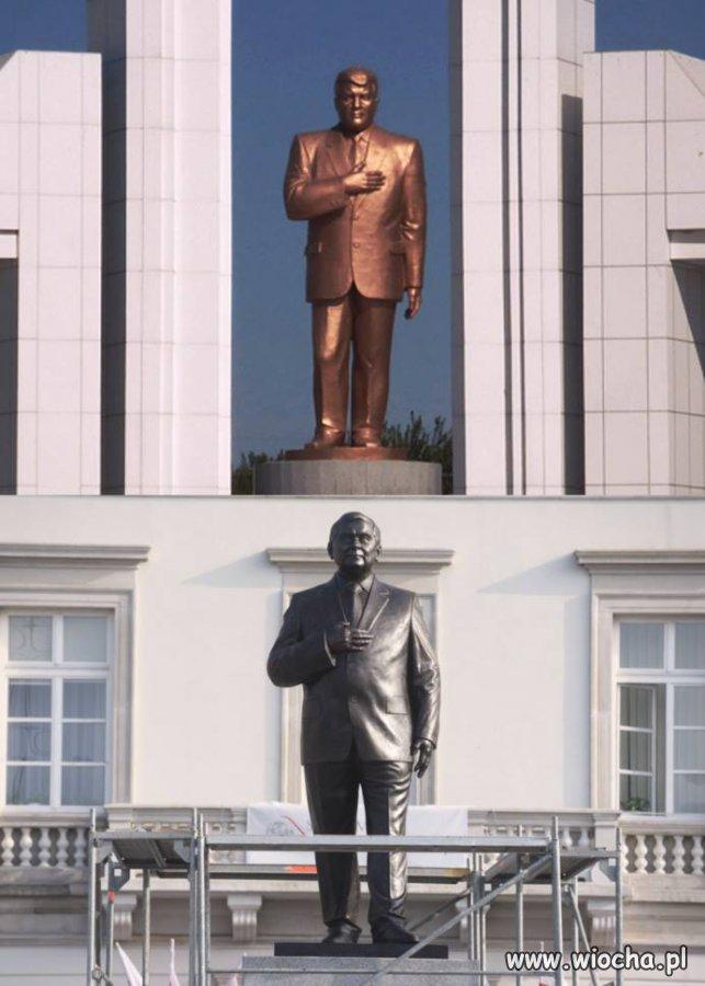 Na górze prezydent Turkmenistanu