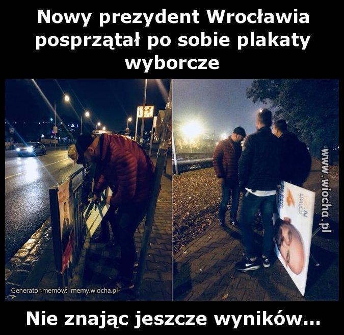 Nowy prezydent Wrocławia posprzątał po sobie