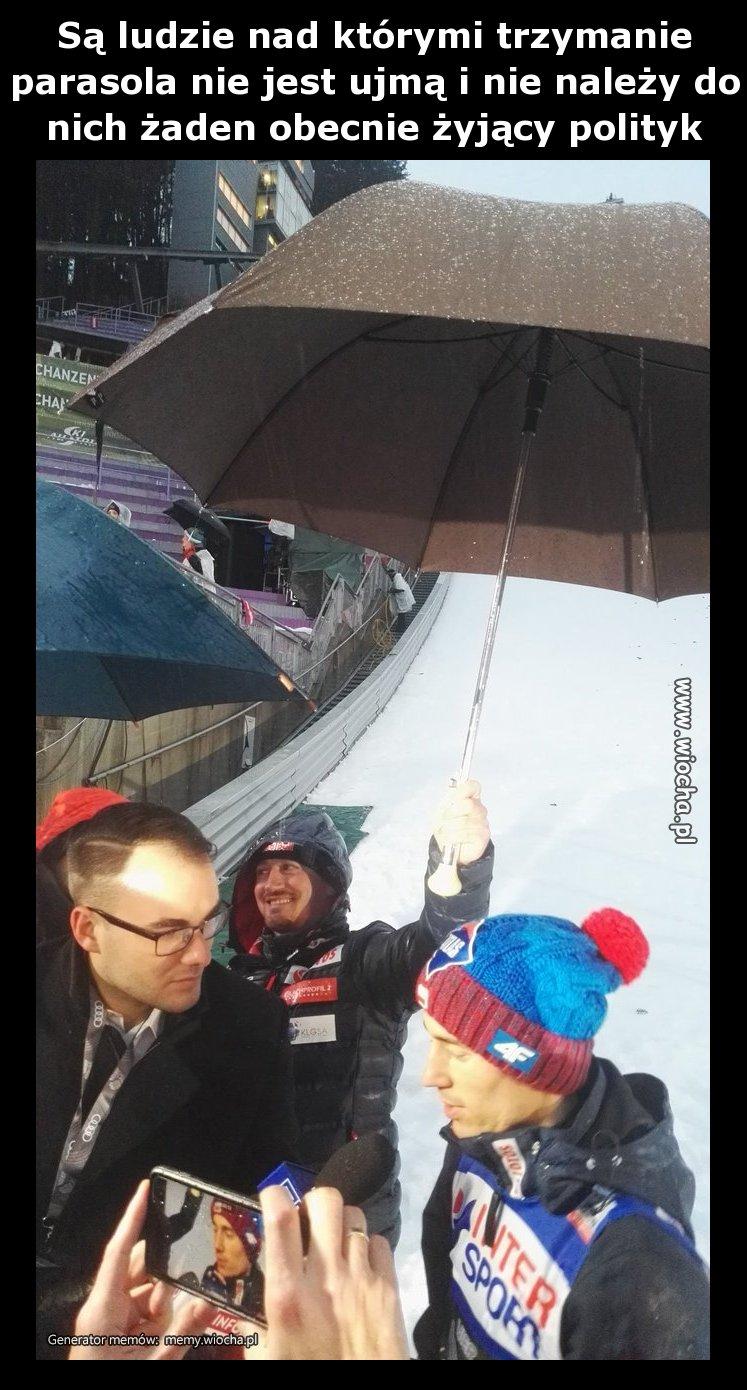 O trzymaniu parasola