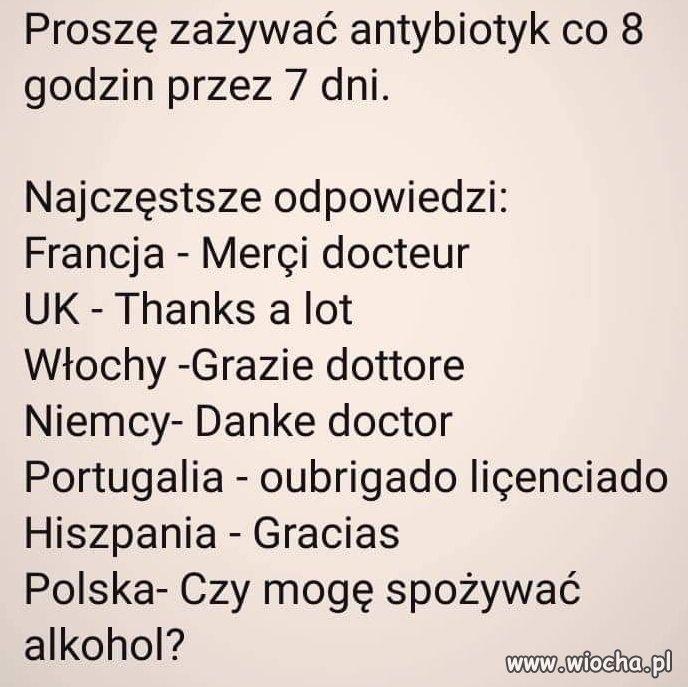 Polak vs Antybiotyk