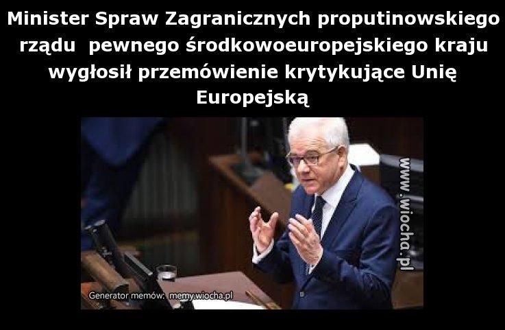 Minister Spraw Zagranicznych proputinowskiego