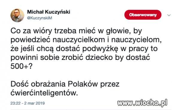 Dość obrażania Polaków przez ćwierć inteligentów